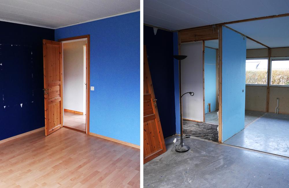 Renovering sovrum-badrum